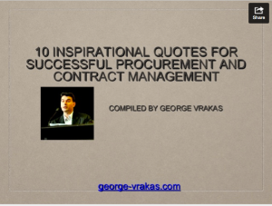 10 Quotes for successful Procurement and Contract Management